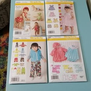 Super cute patterns for baby girls! NWT